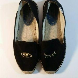 Jason Polan For Soludos Womens Size 7.5 Black Eye